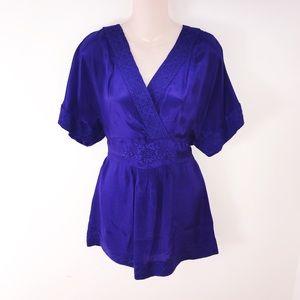 Anthropologie Maeve Purple Kimono Top